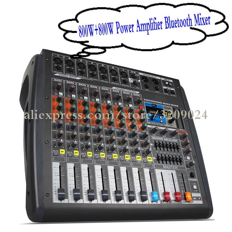 Temperamentvoll Pro 800 Watt 800 Watt 8 Kanal Verstärker Aufnahme Mischer Mit Bluetooth Usb Mp3 Bluetooth 16 Dsp Reverb Wirkung Audio Mischen Controller Mild And Mellow Unterhaltungselektronik Dj-equipment