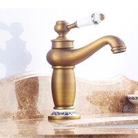 Bathroom Faucet European Style Tap Copper Faucet European Antique Hot And Cold Double Open Basin Faucet Vintage