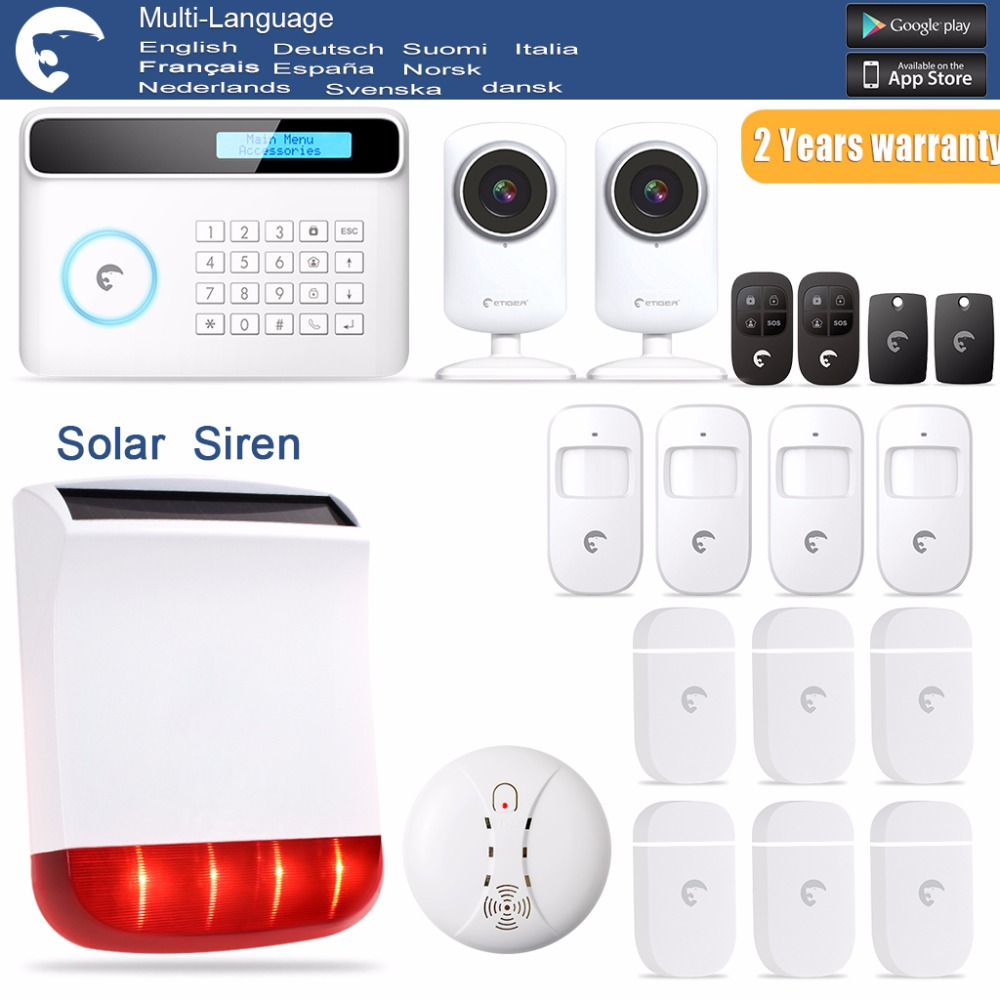 Android IOS APP 433MHz GSM Alarm System SIM Card Phone call Alarm Security door open remind wireless service call bell system popular in restaurant ce passed 433 92mhz full equipment watch pager 1 watch 7 call button