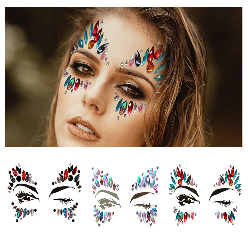 1PC Tatto Makeup Crystals Eyeliner Eyeshadow Face
