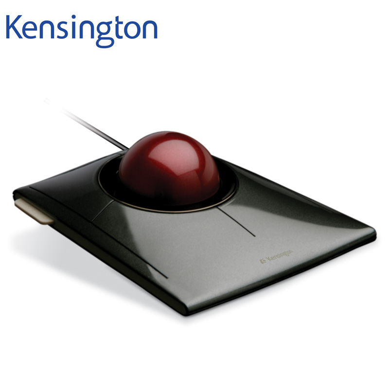 Kensington Original SlimBlade Media Control Trackball Optical USB Mouse for PC or Laptop with Large Ball