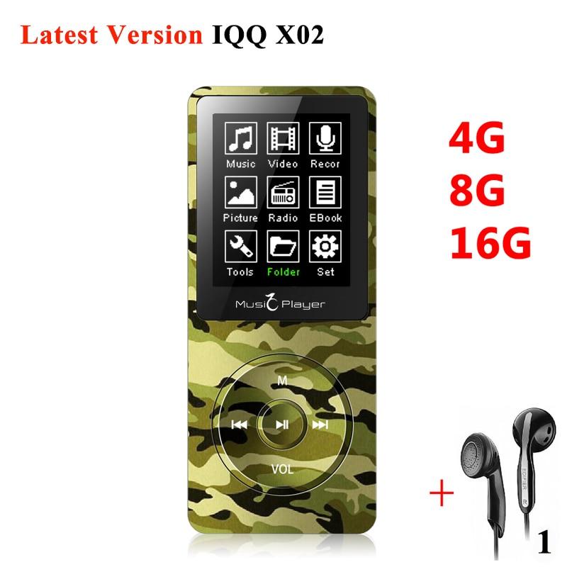 Mini MP3 16gb with Built-in Speaker IQQ x02 mp 3 Player with radio hifi speaker mp-3 hifi Player reproductor mp3 16gb walkman