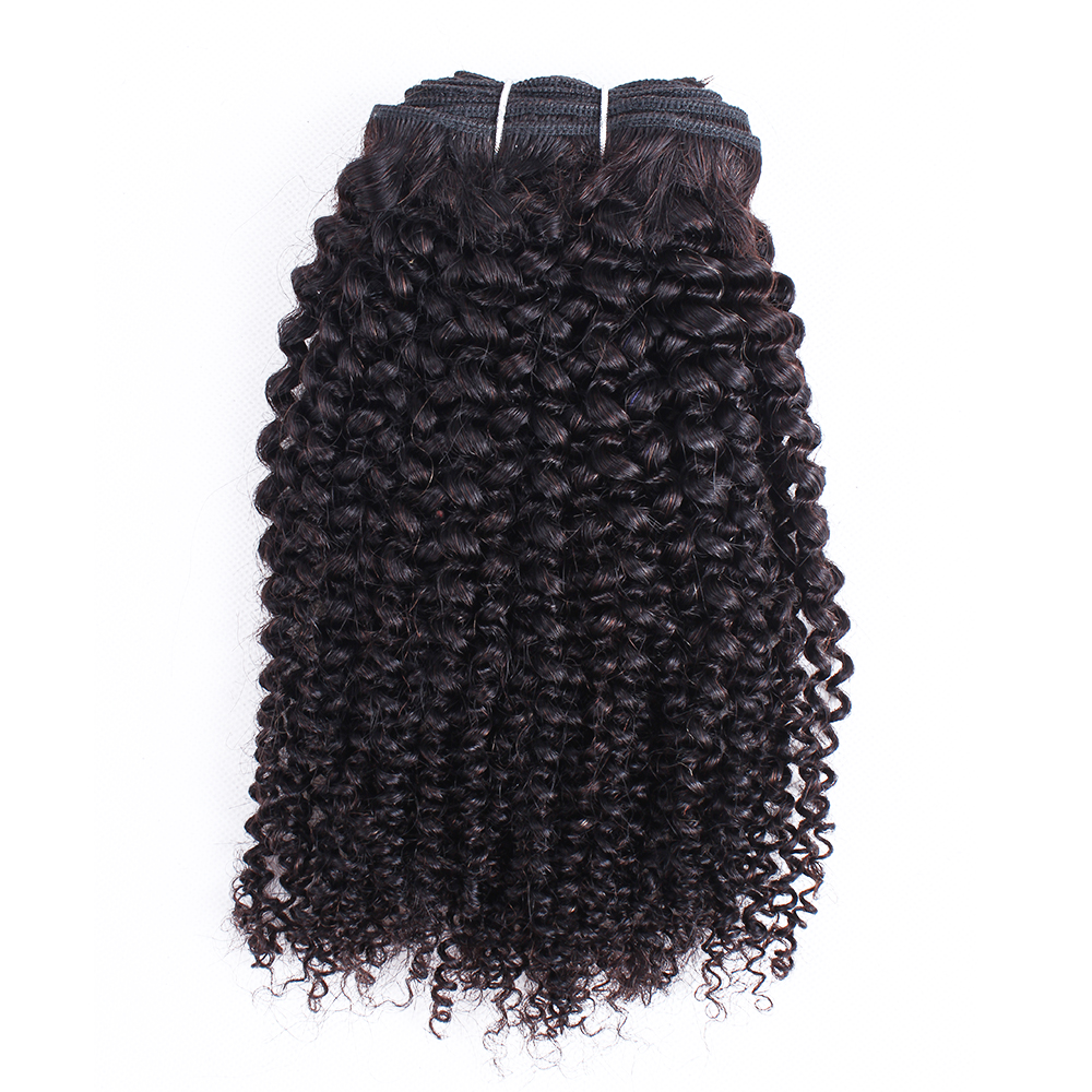 Human Hair Weaves Contemplative Mogul Hair Peruvian Kinky Curly Hair Weave Bundles Natural Color 1 Pc Remy Human Hair Extension 10-26 Inch Free Shipping Quality First Hair Weaves