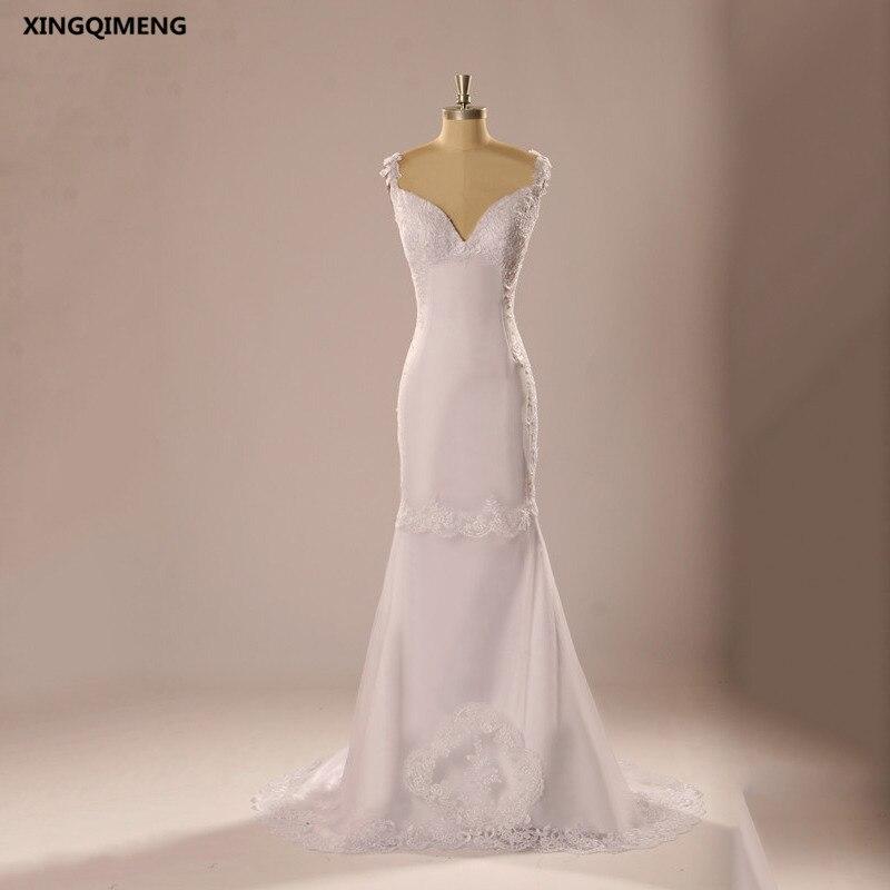 Sexy Sheath Wedding Dress Lace Ivory Wedding Dresses Long