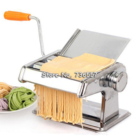 Stainless Steel Manual Noodle Press Household Pasta Making Machine Dough Roller Spaghetti Cutter 2 Blades