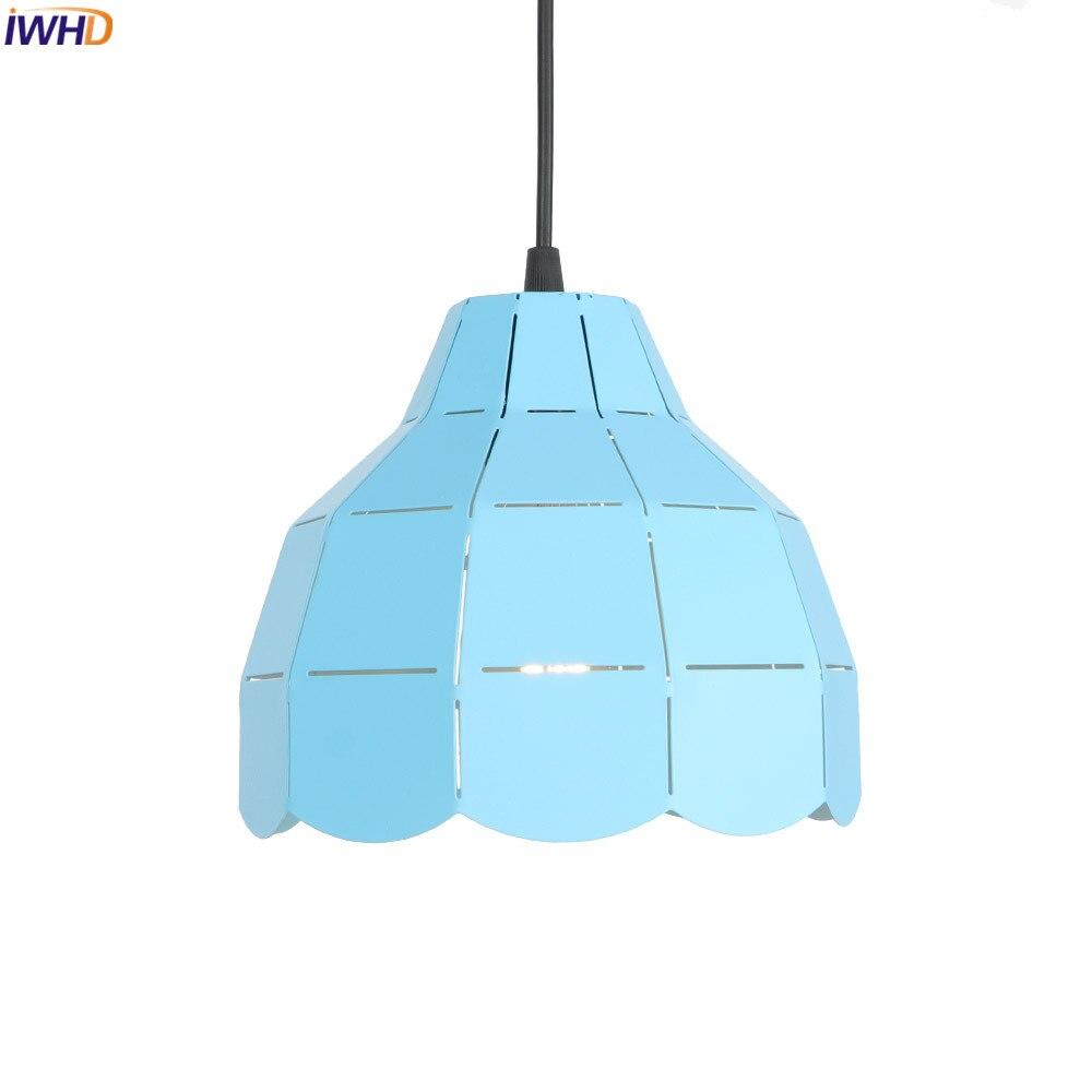 IWHD Blue Pendant Lights LED Iron Hollow Hanglamp 110V-220V Loft Vintage Hanging Lamp Fixtures For Home Lighting Industrial LampIWHD Blue Pendant Lights LED Iron Hollow Hanglamp 110V-220V Loft Vintage Hanging Lamp Fixtures For Home Lighting Industrial Lamp