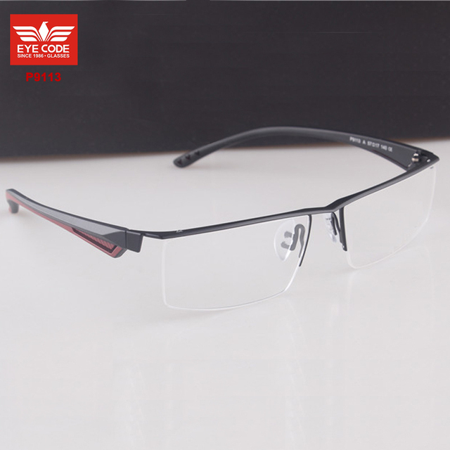 Half Frame Glasses Big Frame Square P9113 Brand Designer Cheap ...