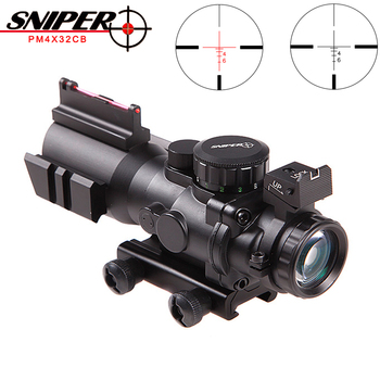 Sniper 4X32 PM4X32CB Hunting Riflescope Tactical Optical Sight Full Size Mil-Dot Red dot Wire Reticle hunting Scope Optics