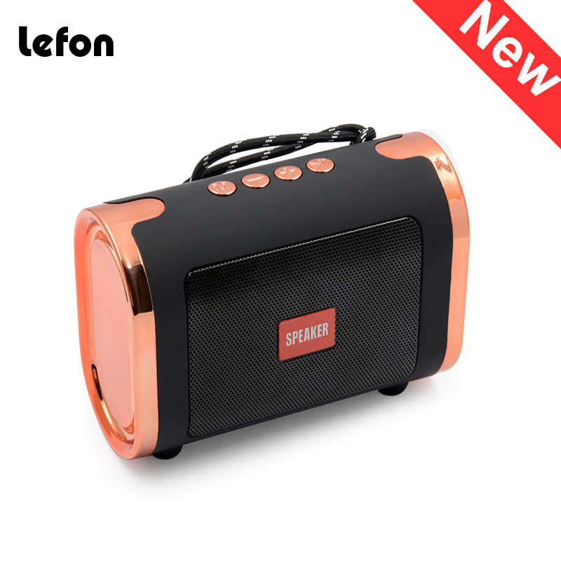 Lefon Bluetooth Speaker Portable Wireless Stereo Speakers Sound Box Outdoor Home Support TF Card USB Disk 2019 New