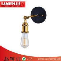 Lampplus Nordic Simple Vintage Loft Industrial Sconce Brass/Nickel Wall lamp Wall light for bedroom living room study hotel room