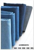Customized 150cm Width Blue Denim Jean Composite Chiffon Silk Cotton Gauze Cloth Fabric Shirt Coat Skirt