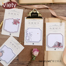 1 x vintage flower frame memo pad sticky notes paper sticker notepad kawaii stationery pepalaria office school supplies(China)