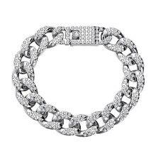 MISANANRYNE Fashion Punk Bracelet Curb Cuban Chain Gold Color Bracelets Bangle For Men Women Jewelry Gifts