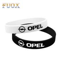 Car-Styling Hologram Bracelets Sport Black White Silicone Wristband Bangles For Opel Astra H G J Corsa Insignia Antara Meriva