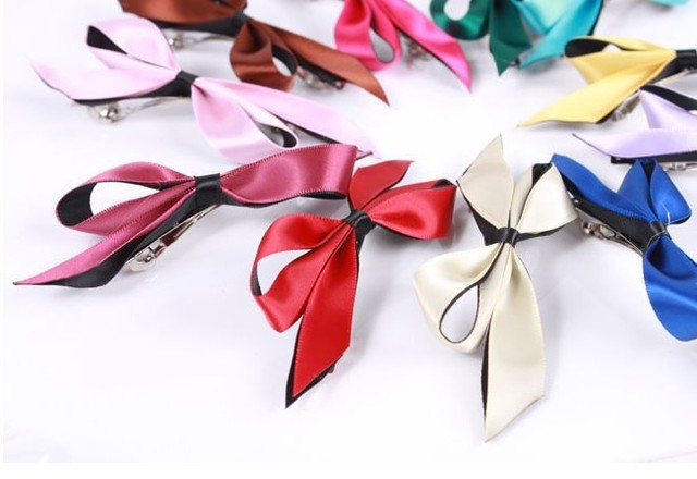 The latest version of bowknot hairpin multicolor
