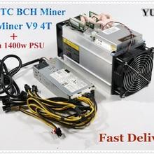 YUNHUI AntMiner V9 4 T/S Биткоин Майнер(с БП) Asic Майнер Btc Майнер лучше чем Antminer S7 S9 S9i T9+ WhatsMiner M3 E9