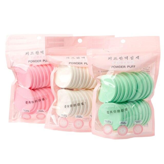 20 piezas suave húmedo y seco de doble uso de esponja de limpieza Natural para lavar la cara Puff herramientas de limpieza Facial