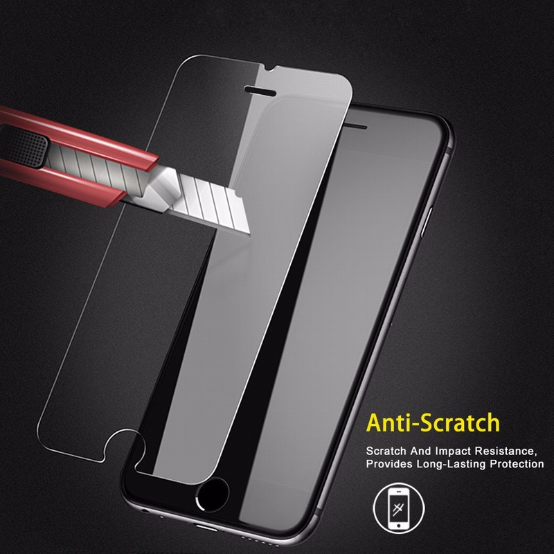 NYFundas For iPhone 7 Tempered Glass Screen Protector Guard For Apple iPhone 8 Plus X 6S 6 5 5S SE 4 4S 9H Film Protection Cover (4)