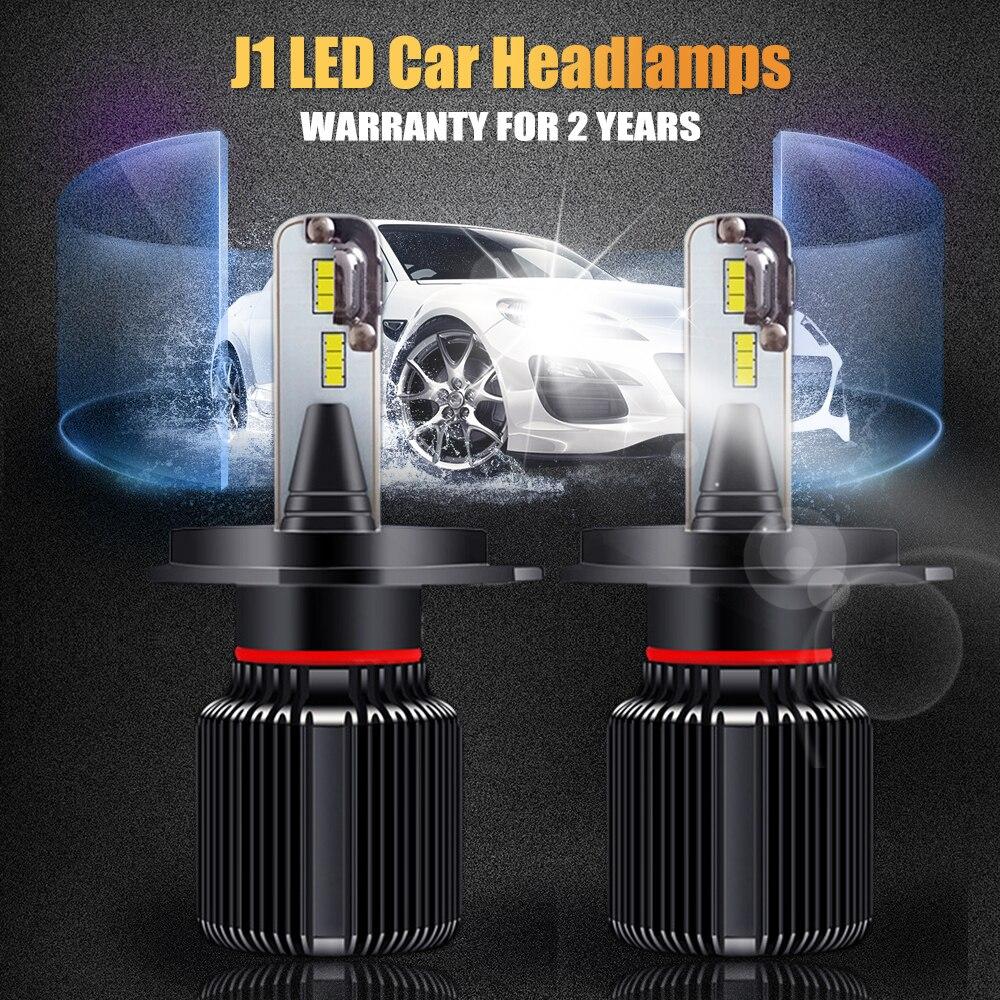2pcs H7 LED Headlight Bulb H4 HB2 H1 H3 H11 9005 9006 HB3 HB4 CSP Chip Car LED Headlight Bulbs With 12V Car Light Auto Fog Lamp duu h7 csp led car headlight bulb h4 h1 h3 h11 9005 hb3 9006 hb4 9012 super bright turbo cooling 60w auto lamp v5 6000k 12v