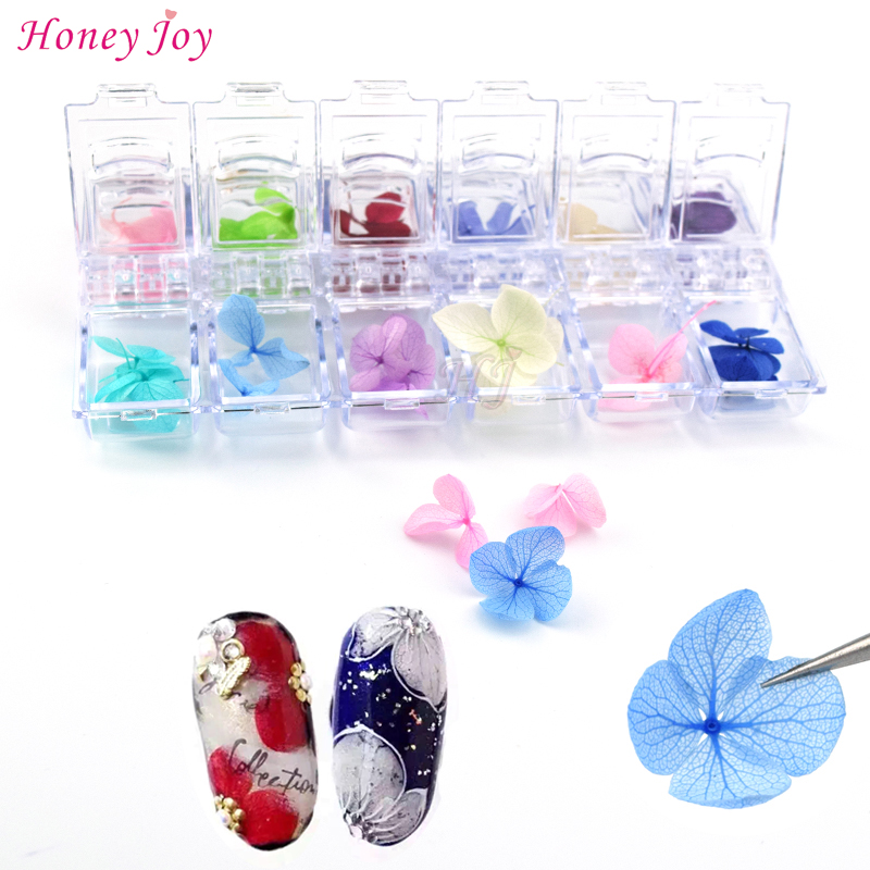 12colors/box 3D Real Dried Dry Flower + Rhinestone Storage Box Nail Art Decoration UV Gel Polish Stickers Manicure Tips Decals qute nail art rhinestone nail decoration 3 sizes solid princess imitation pearl decoration for uv gel nail polish