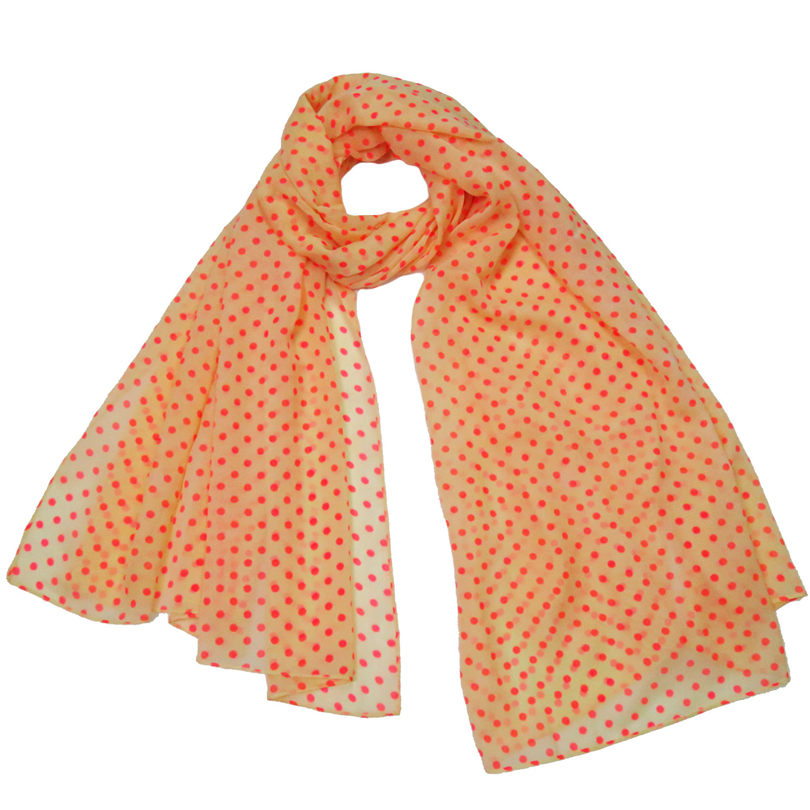 Summer   Scarf     Wrap   Women 2017 Fashion Orange Dots Foulard Femme Shawl Stole Collar Soft Smooth Lady Hijab   Scarves   Female Bandana