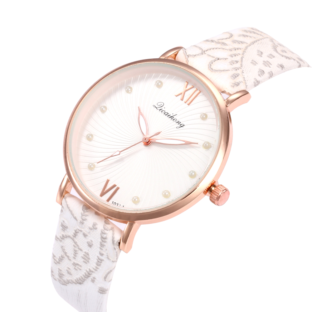 2018 Female WatchesWomen's Casual Quartz Leather Band Analog Wrist Watch Luxury Brand Famous Ladies Watches Casual Reloj Mujer