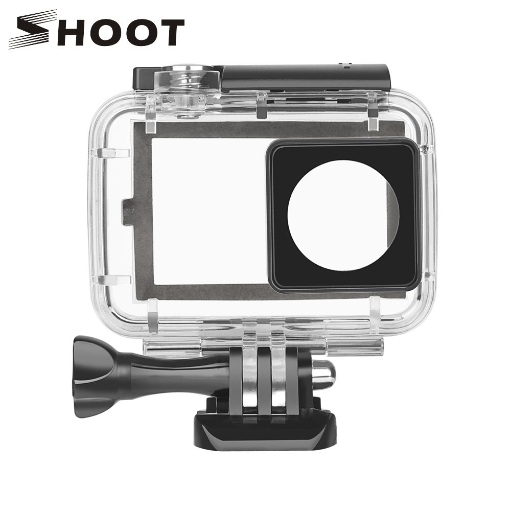 SHOOT 40M Diving Waterproof Case for Xiaomi Yi Lite 4K 4K+ 2 II Case With Touch Backdoor For Yi 2 Action Camera Accessories alloet 35m waterproof diving cover case for xiaomi yi 4k 2 ii camera underwater shooting touch screen protector housing case box