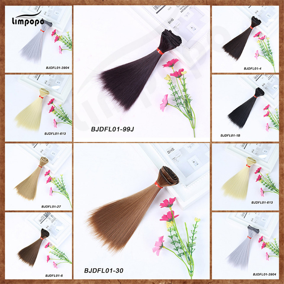 все цены на LIMPOPO Bjd doll uses high temperature silk straight hair wig hair weaving 1 PCS 15cm * 100cm or 25cm*100cm DIY wig