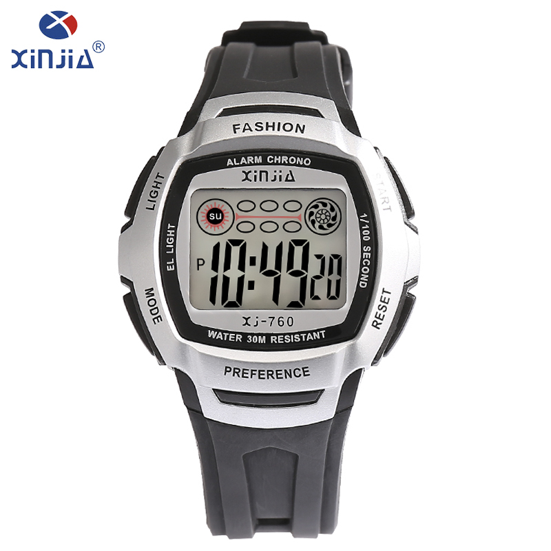 XINJIA men's work and leisure watches LED digital date multi-functional resin luminous Watch 2018 men's top brand luxury XJ-760 все цены