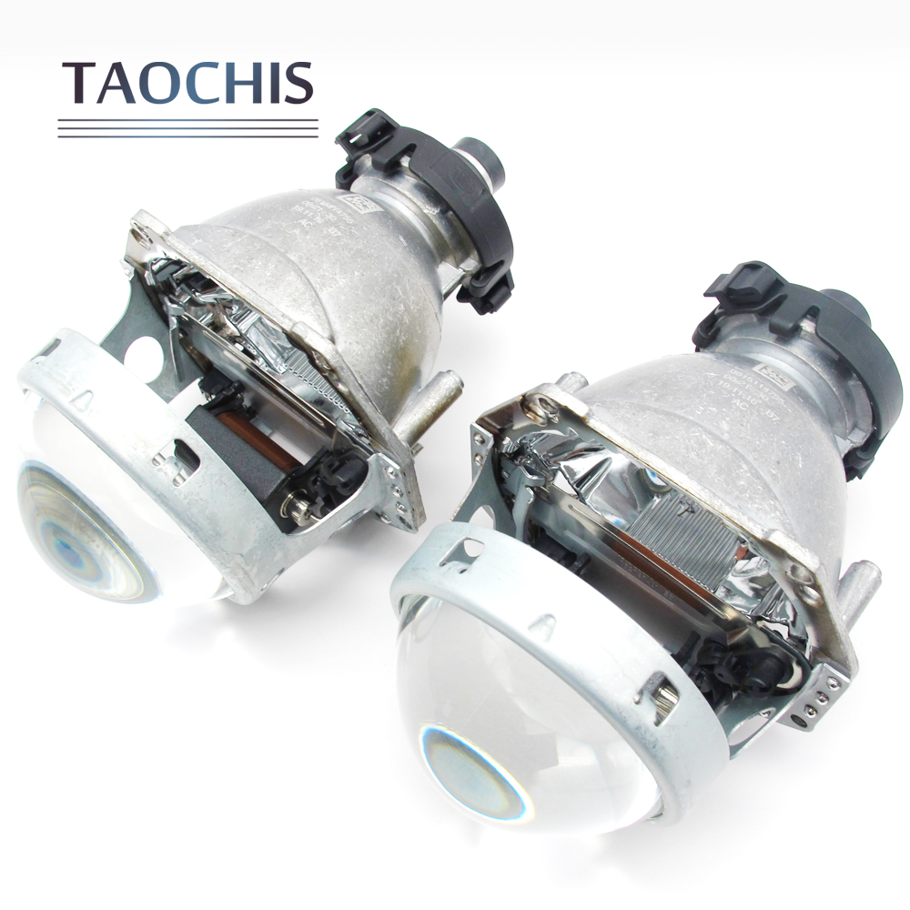 Taochis 3.0 inch Hid Bi-xenon Head Light Projector Lens For Hella 3 5 Lens Replace Car Styling H4 D1S D2S D3S D4S Bulbs Retrofit for chevrolet cruze tuning bi xenon projector lens head lights with led turn light 2015 year new arrival