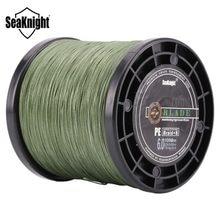 Seaknight marca 1000m 8 tece linhas de pesca trançadas lâmina série 8 fios verde multifilamento pe linha 20-100lb 0.175-0.480mm