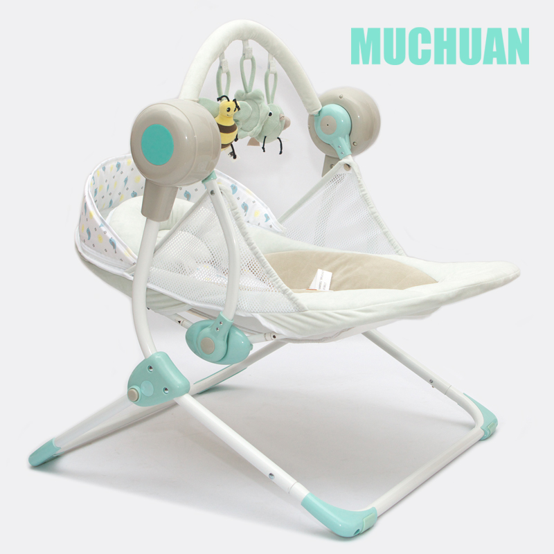 Electric bluetooth baby swing cradle baby chaise lounge folding plus size electric rocking chair automatic cradle Electric bluetooth  baby swing cradle baby chaise lounge folding plus size electric rocking chair automatic cradle bed 8gb card
