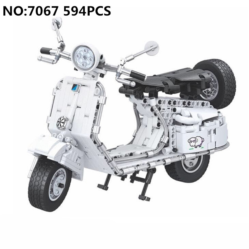 Winner Diy New 594pcs legoing Technic Pedal Motorcycle Motorbike Moto Building Blocks Bricks Educational Toys for Children Gifts aiboully 7061 550pcs technic motorbike motorcycle car bicycle building bricks blocks toys for children gift