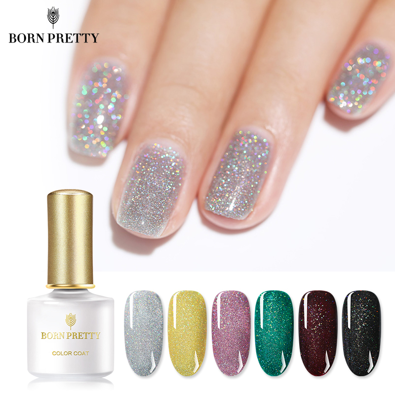 BORN PRETTY Holographic Nail Gel 6ml Shimmmer Glitter Rainbow Silver Shining Soak Off UV Gel Lacquer Polish-in Nail Gel from Beauty  Health on Aliexpresscom  Alibaba Group