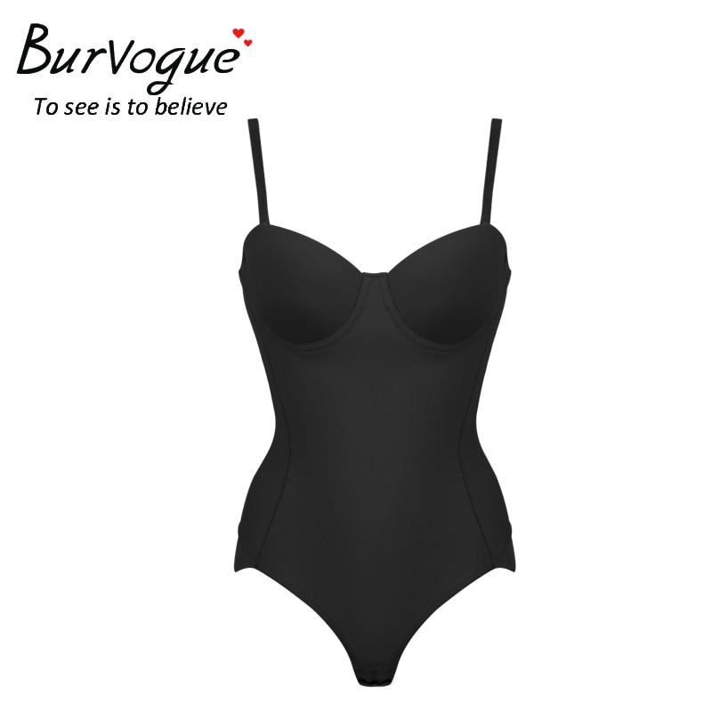 Burvogue Hot Body Shaper Push Up Shapewear Waist Trainer Over-bust Shaper Underwear for Women Slimming Bodysuit Seamless Shapers