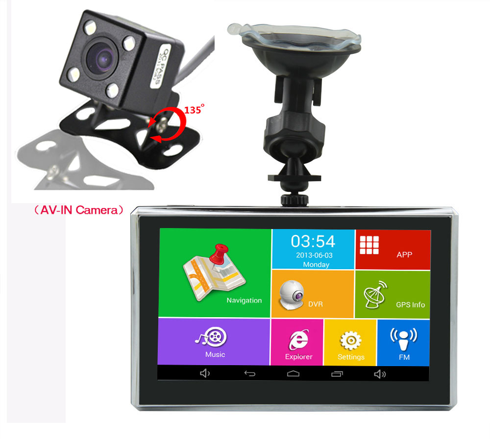 5 Wifi Car Camera Dual Cameras DVR Len Android Car GPS Navigation Video Recorder With Night Vision Rear view Camera hot 7 inch android 4 0 quad core car gps navigation with dvr recorder 1080p 8g media player fm transmitter support wifi igo map