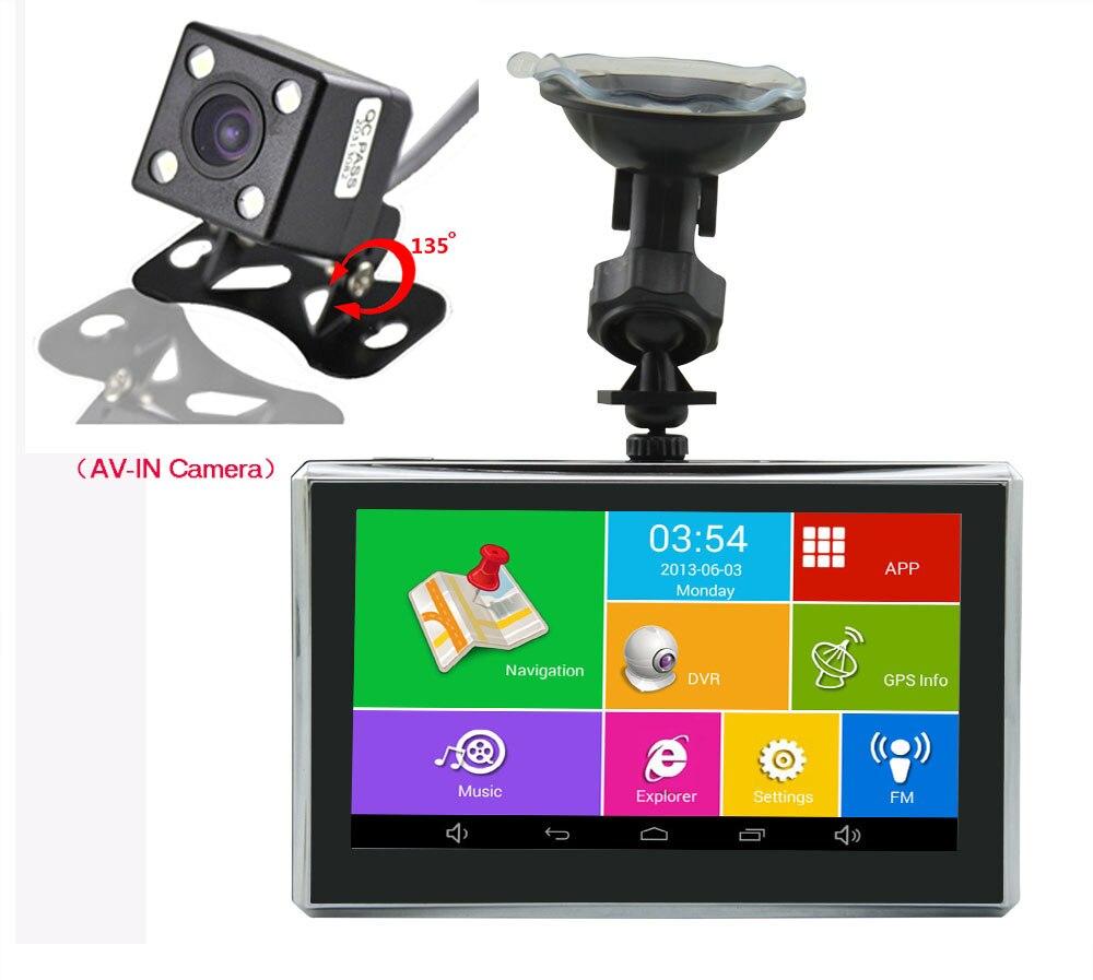 5 Wifi Car Camera Dual Cameras DVR Len Android Car GPS Navigation Video Recorder With Night Vision Rear view Camera