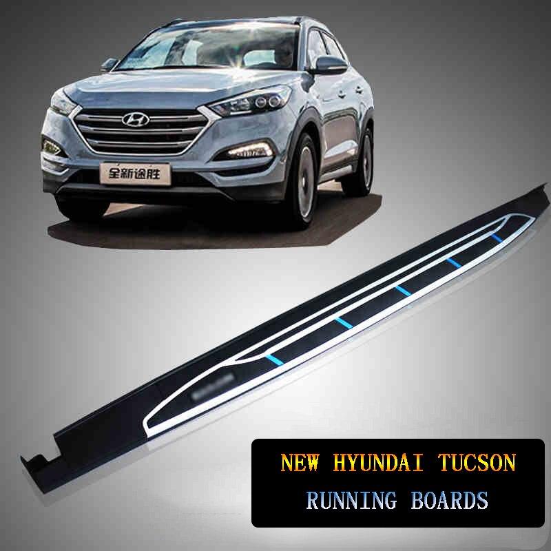 JIOYNG Pour Pour nouveau Hyundai Tucson 2015-2017 Voiture Marchepieds Auto Side Step Bar Pédales Nouveau Produit Phare