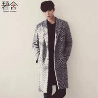 S 2XL!!2018 new wind clothes autumn and winter south Korean version of the long style of the men's woollen cloth overcoat men.