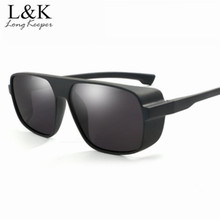 63ed67886021 Long Keeper Top Polarized Men Retro Sun Glasses Steampunk Driving HD Lens  Safety Wrap