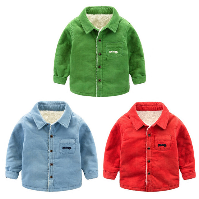 3d9cc67a6aa5 1 6 Age Infant Boy Thick Shirt Autumn Winter Toddler Tops Baby Boys ...