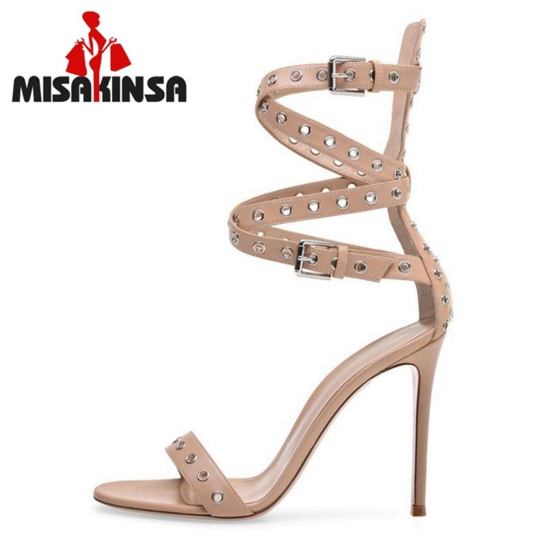 Elegantes Gladiador Mujer Calzado Tacón Club Qulaity Misakinsa De 45 Marfil Zapatos Punta Sandalias Alta Alto 34 Abierta Mujeres La Hebilla FxwZaPq