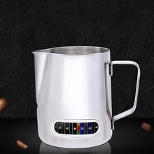 600ml מעשי עם מדחום נירוסטה אספרסו קפה כד ריסטה קרפט בקנה מידה קפה לאטה חלב מקציף כד