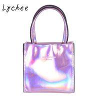 Lychee Fashion Women Summer Shining Handbag Laser Hologram Shoulder Bag Casual Tote Ladies Bags