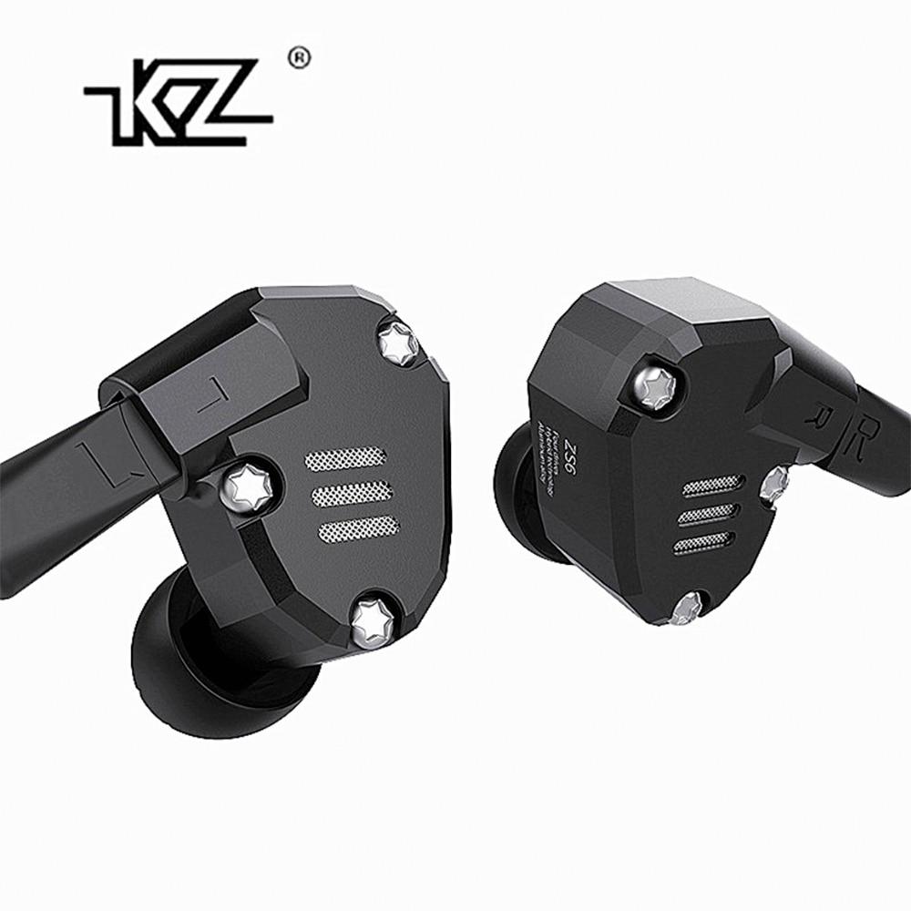 KZ ZS6 2DD+2BA Hybrid In Ear Earphone HIFI DJ Monito Running Sport Ear Hook Headphone Earplug Headset Earbud For Mobile Phone latest original kz zs6 earbuds 2dd 2ba hybrid earphone hifi in ear metal headphone dj monitor headset earphones zs10 as10 zs6