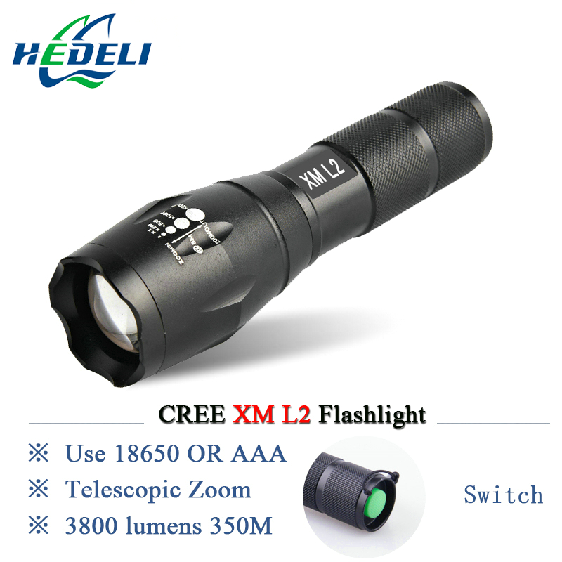 Powerful LED Flashlight CREE XML T6 XM-L2 Lantern Rechargeable Zoomable Waterproof AAA OR 18650 Battery Lamp Hand Light Torch cree xm l2 flashlight 5000lm adjustable zoomable led xm l2 flashlight lamp light torch lantern rechargeable 18650 2chargers z30
