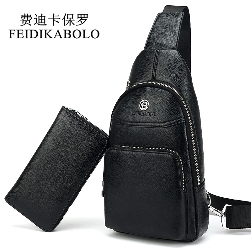 FEIDIKABOLO Men Bag Summer High Capacity Chest Bag Man Travel Chest Pack Leather Men Crossbody Bag Designer Male Shoulder Bags активная акустическая система behringer europort eps500mp3