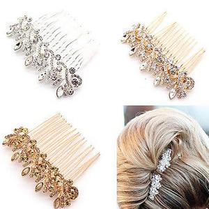 Wedding Hair Accessories Clips Romantic Crystal Pearl Flower HairPin Rhinestone Tiara Bridal Crown Hair Pins Bride Hair comb
