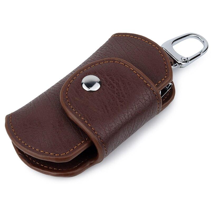 New Arrivals 100% Genuine Leather Men Key Holder Wallet High Quality Vintage Business Key Chain Bag Men's Housekeeper Key Bags