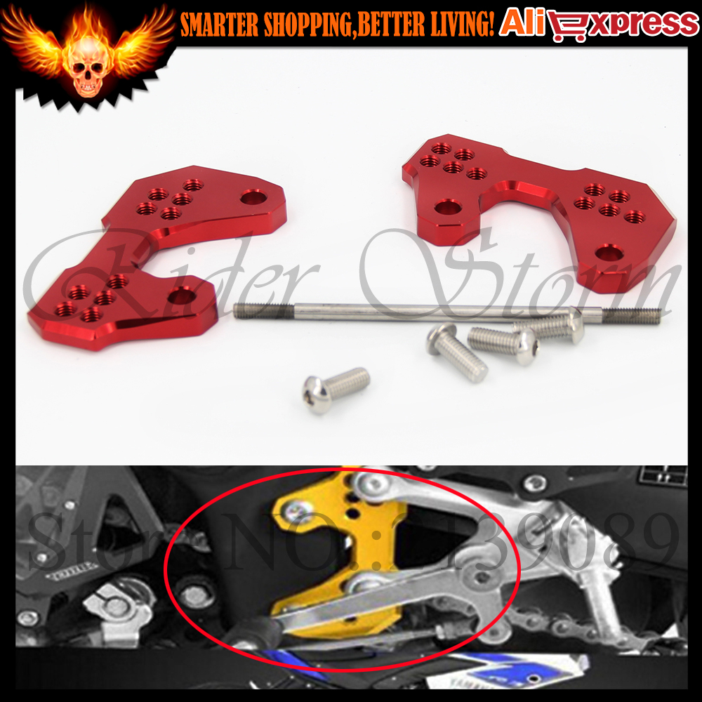 ФОТО Motorcycle CNC Aluminum Rear set Base Footrest Pegs Foot Pegs Pedal semi-group For Yamaha YZF R3 2015 2016 YZF R25 2013 2014